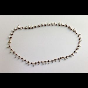 Jewelry - Garnet, Pearl and Gold Filled Necklace